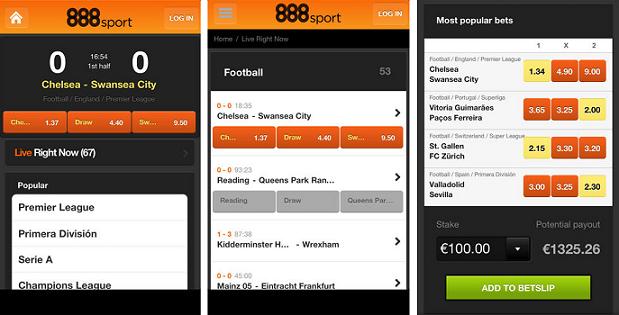 Мобильное приложение 888 Спорт